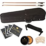 Cecilio-CVN-White-Ebony-Fitted-Solid-Wood-Violin-with-Tuner-and-Lesson-Book-Metallic-White-Size-44-Full-Size