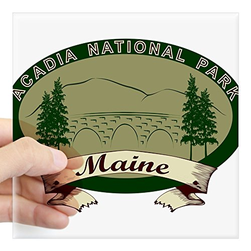 CafePress - Acadia National Park Sticker - Square Bumper Sticker Car Decal, 3