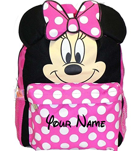 Disney Personalized Minnie Mouse Face Backpack Book Bag - 16 Inches