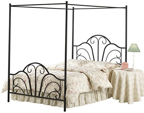 Hillsdale Furniture 348BFPR Hillsdale Dover Full Canopy Bed, Textured - Full Canopy Bed Size Hillsdale