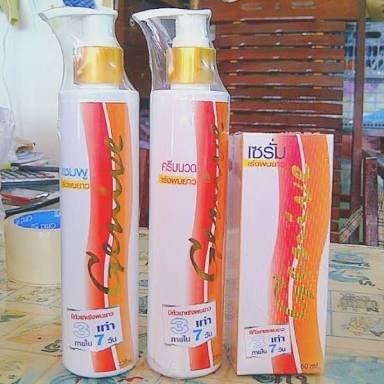 3 X Genive Shampoo & Conditioner and Serum Helps Hair Grow Longer Set (1. Shampoo 1 Bottle 220 Ml. 2. Conditioner 1 Bottle 220 Ml. 3. Serum 1 Bottle 60 Ml)