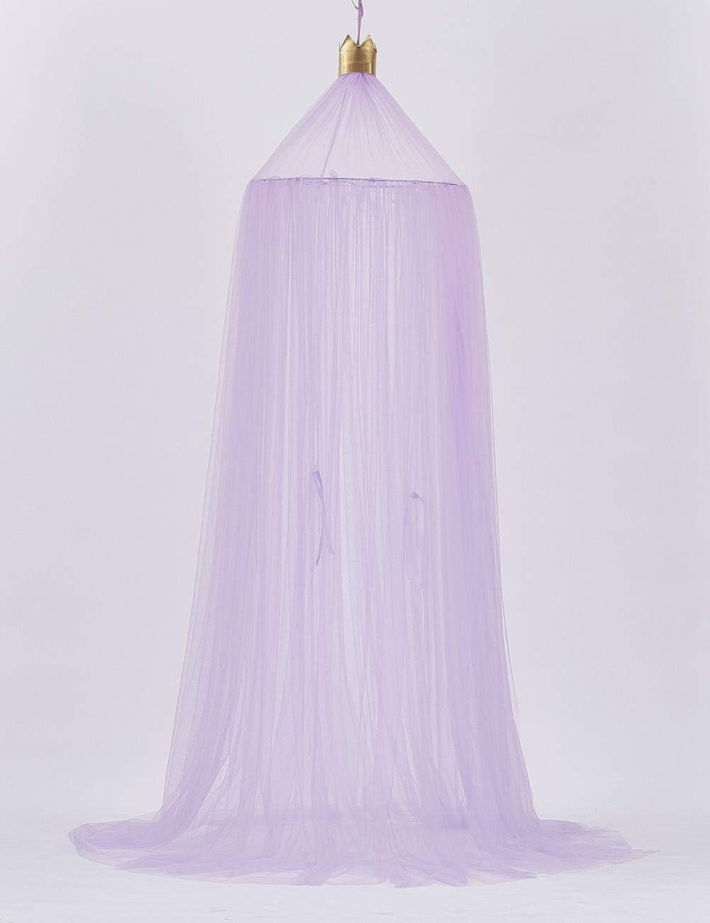 Kuppel Blau Betthimmel f/ür M/ädchenzimmer Prinzessinnentraum 240 * 60cm Ynnxia Moskitonetz