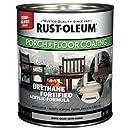 Rust-Oleum 244163 Porch Floor Paint, Gray Semi-Gloss, 1-Quart