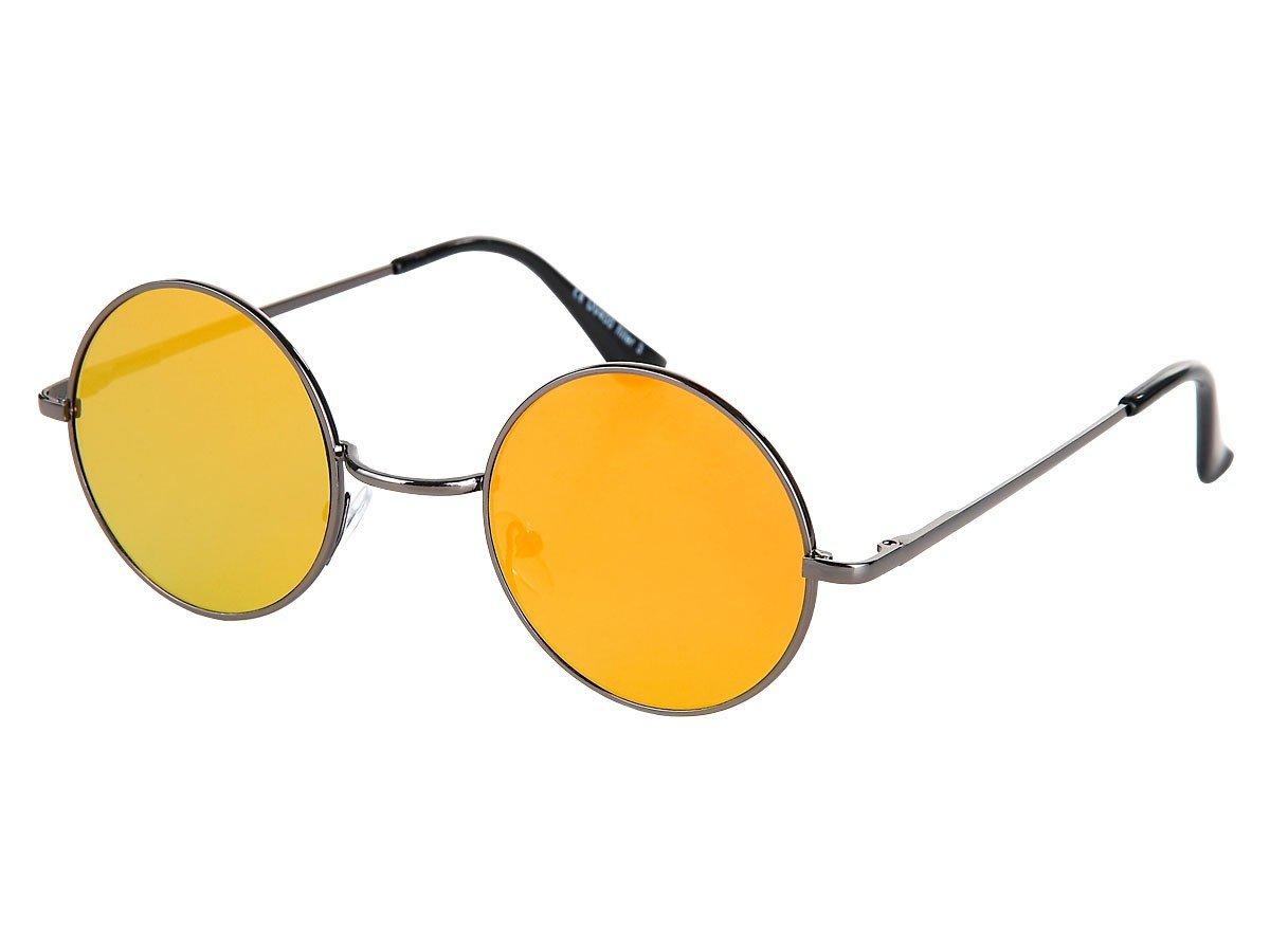 Lunettes de soleil rond rondes arrondis plat design flattop flat top sport John Lennon accessoire Viper pas cher style moderne vêtement vacances été fashion femme homme saison, V-1302 + V-1303:V-1302-