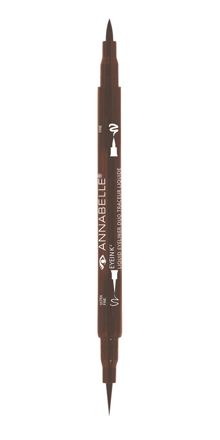Annabelle EyeInk2 Liquid Eyeliner Duo, Brown, 1.5 mL Groupe Marcelle Inc.