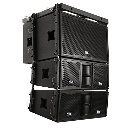 Seismic Audio - SALA-215S-PKG1 - Premium Line Array Package - 2x15 Subwoofer, Pair of 2x10 Speakers and Mounting Frame - PA/DJ Live Sound Band