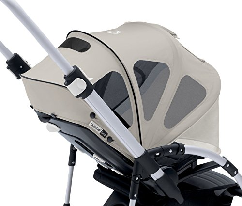 - Bugaboo Bee Breezy Sun Canopy, Arctic Grey - Extendable Sun Canopy with UPF Sun Protection and Mesh Ventilation Panels