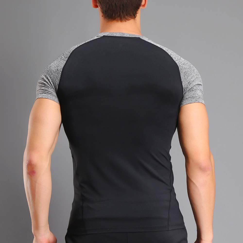 Musclealive Uomo Bodybuilding Corto Manica Magliette Men Superiore Palestra Abbigliamento Sportivo Poliestere e Spandex