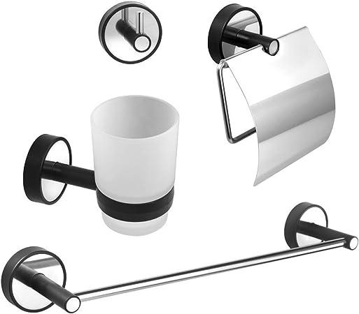 de Juego 3M VHB Cinta Adhesiva Montaje en Pared 40 cm Acero Anoxidable gancho para toalla y toallero soporte para papel higi/énico Kapitan Vaso para de dientes