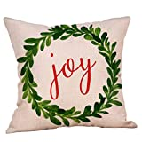 MIS1950s Christmas Throw Pillow Covers 18x18 Inch with Christmas Quotes and Red Vintage Truck Pattern for Couch Sofa Home Decoration,Farmhouse Pillowcases Cushion Cover