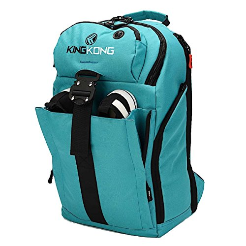 """King Kong Mini Backpack - Military Spec Nylon Gym Backpack with Expandable Pockets and Heavy Duty Buckles for Active Lifestyle - 18"""" x 11"""" x 5.5"""" - Teal"""