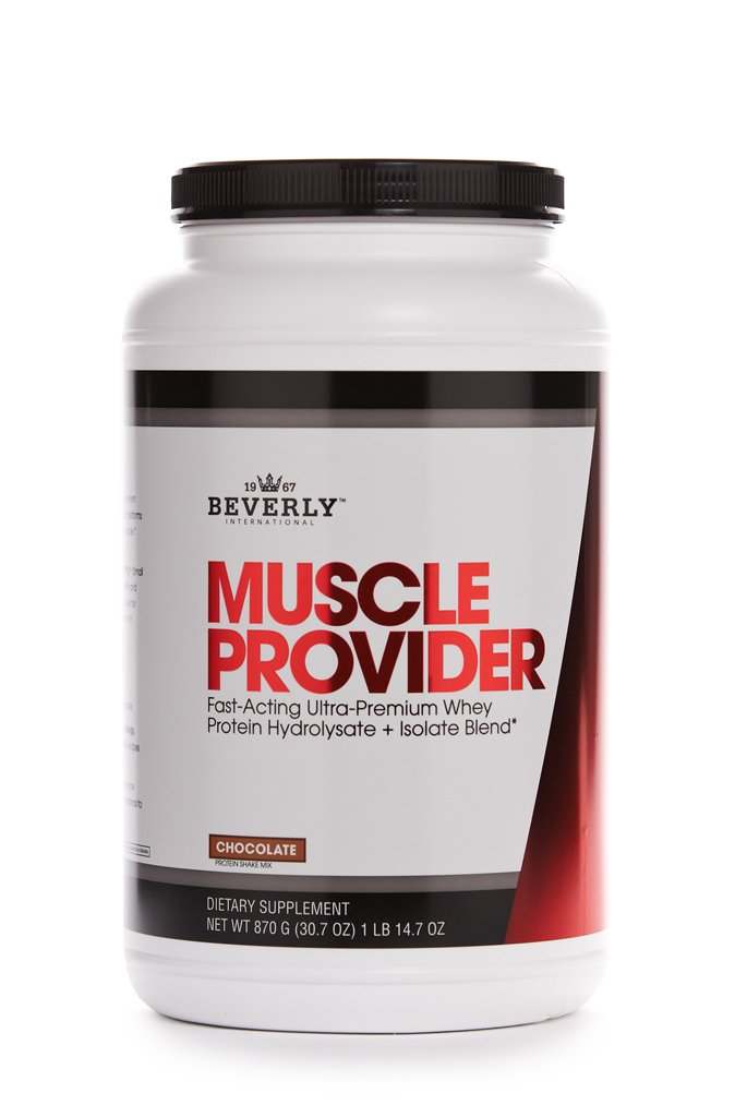 Beverly International Muscle Provider Protein Powder 30 servings, Chocolate. 10X-Strength whey protein hydrolysate-isolate for rapid lean muscle repair and growth. Easy bloat-free digestion. by Beverly International
