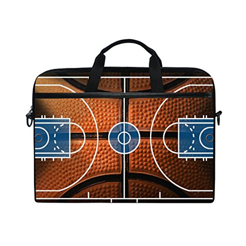 - 15-Inch Laptop Bag Basketball Court Canvas Shoulder Messenger Sleeve Case Tablet Briefcase