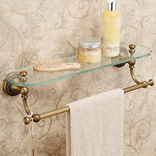 - Sprinkle Wall Mount Bath Towel Holder Shampoo Basket 20.5 inch Bathroom Shower Rack Bathroom Shelf, Antique Brass