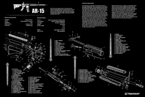 Ultimate Arms Gear AR15 AR-15 AR 15 M4 M16 Gunsmith & Armorer's Large Exploded Poster 24