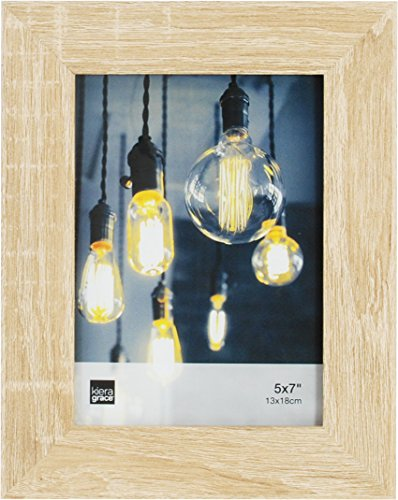 Kiera Grace Loft Picture Frame, 5 by 7 Inch , Natural Oak