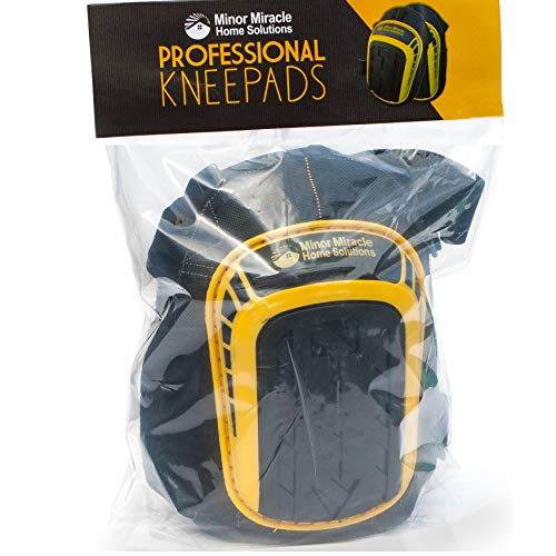 Protective Knee Pads For Work (1 Pair) Comfy Cushioned Kneepads That Stay In Place And Don't Slip Down. Kneepad Used With Shorts or Pants. Knee pad Gentle With Your Knees - 5 Year Warranty