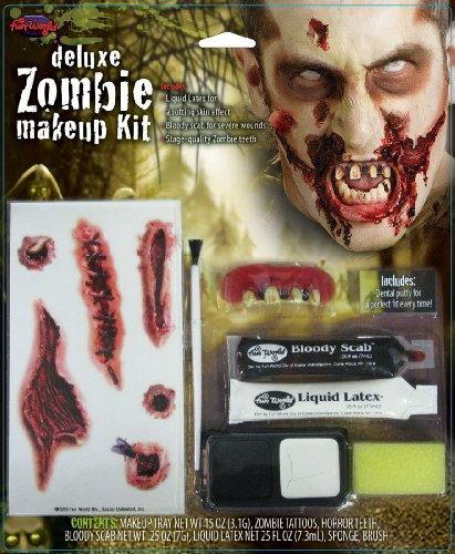 Fun World Deluxe Zombie Wound Halloween Costume Makeup Kit -