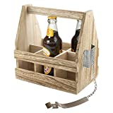 Artland 22110 Beer Bottle Caddy, Medium, Wood