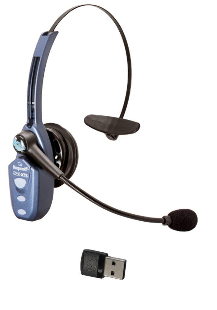 VXi Blueparrott B250-XTS Bluetooth Headset Bundle -203890 | Bonus Microphone Cushions | NFC Enabled | Windows PC and MAC Compatible - (B250-XTS w/Bonus Cushions) BT250-XTS