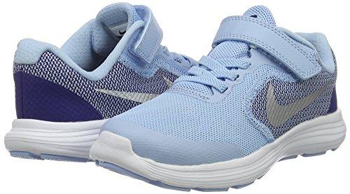 NIKE Kids' Revolution 3 (Psv) Running-Shoes, Bluecap/Metallic Silver/Deep Royal Blue, 1 M US Little Kid by Nike (Image #5)