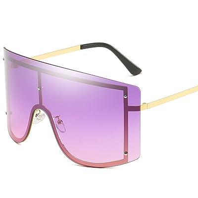 Gafas De Sol De Caja Grande, Gafas De Sol con Protección Solar Gafas De Sol Gradientes para Exteriores Gafas De Montar Universal,Purple: Hogar