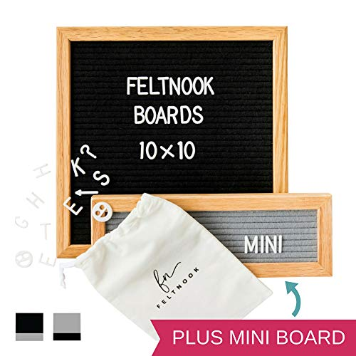 Felt Letter Board with Letters - with Bonus Mini Felt Board - 346 -