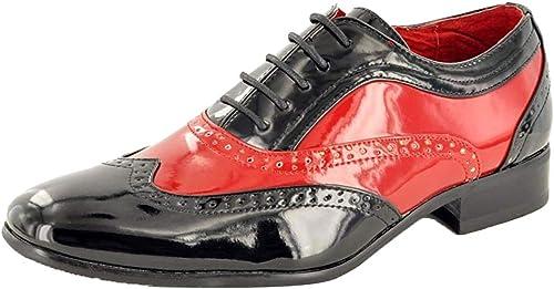 TALLA 41 EU. My Pair - Zapatos de Cordones para Hombre Negro Negro