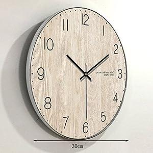 Wall clock Reloj de Madera Reloj Redondo Sala de Estar Dormitorio silencioso Reloj de Pared Puntero de Metal Barrido Movimiento 1 AA batería de Carbono 12 Pulgadas 14 Pulgadas 16 Pulgadas 2