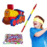 Pinatas Train Kit Including, Buster Stick, Bandana, 2 lb Toy and Candy Filler