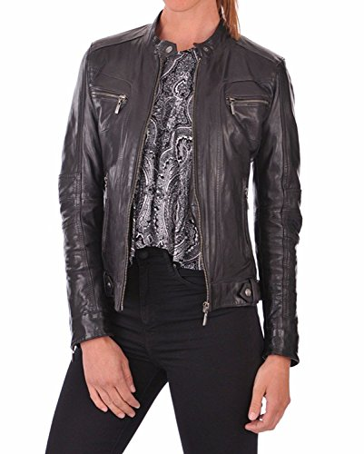 Women's Lambskin Leather Bomber Biker Jacket