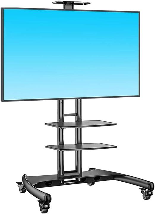 ZYH-Shelf Soporte para TV Móvil, Soporte De Pie Universal Se Adapta A LED De 32 A 65 Pulgadas, Televisores LCD Carro De TV Móvil con Bandeja De Doble Capa: Amazon.es: Hogar