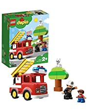 LEGO10901DUPLOTownBrandweertruck,Licht&geluid,Brandweermanfiguur,Speelgoedvoorkinderenvan2-5jaar