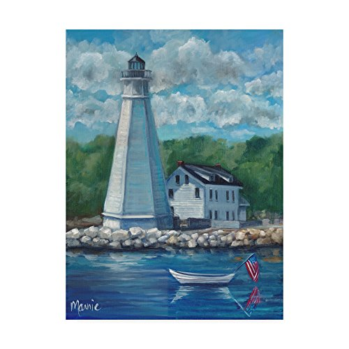 New London Lighthouse by Marnie Bourque, 14x19-Inch (Best Coastal Towns In Connecticut)