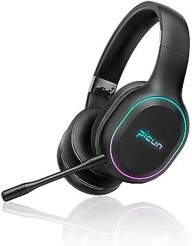 SLUB Auricular Bluetooth Inalambrico Cancelación Ruido Deporte Gaming Larga Duracion Hi-Fi Sonido Estéreo con Micrófono Headset para TV,PC,Móviles: Amazon.es: Electrónica