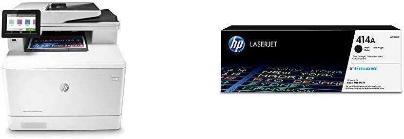 HP Color Laserjet Pro Multifunction M479fdw Wireless Laser Printer (W1A80A) with Standard Yield Black-Toner-Cartridge