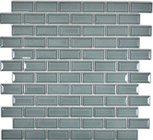 Mini Metro Subway Mosaic Tile Ceramic Brick Bond Diamond Petrol for Wall, Bathroom, Toilet, Shower, Kitchen, Tile Mirror…