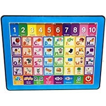 Cooplay Blue Y-pad Easy Pad Touch Screen Tablet Study English Educational Music Computer Spelling Letters Words Quiz Teaches Learning Abc ipad Electronic Toys For Kids Baby Gift