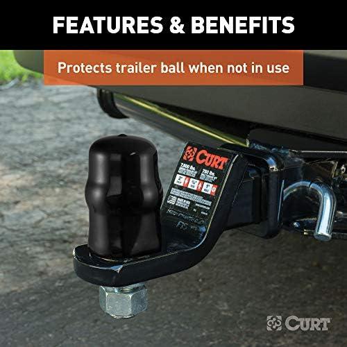 1-7//8 or 2-Inch Diameter CURT 21800 Black Rubber Trailer Hitch Ball Cover