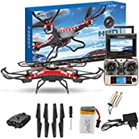 Gotd JJRC H8D 6-Axis Gyro 5.8G FPV RC Quadcopter HD Camera With Monitor + 2PC Motor (Black)