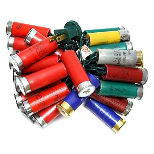 More Than Christmas 15021 - 35 Light Green Wire Multi-Color Shotgun Shell String Set (SL035-24) (Shotgun Shell Christmas Lights)