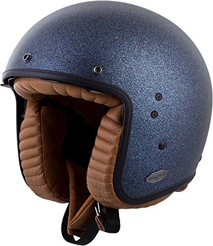 Scorpion belfast open-face helmet metallic blue xs