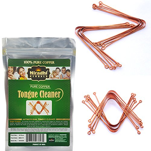 Ayurvedic Copper Tongue Cleaner / Scrapper By Niradhi Herbals (Pack of 12) Products Tongue Cleaner