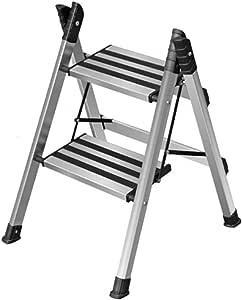 CXLO Escaleras Aluminio escalerilla 2/3/4 escalones con Escalera Antideslizante Resistente y de Pedal Ancho para fotografía, hogar y Pintura 150 kg: Amazon.es: Hogar