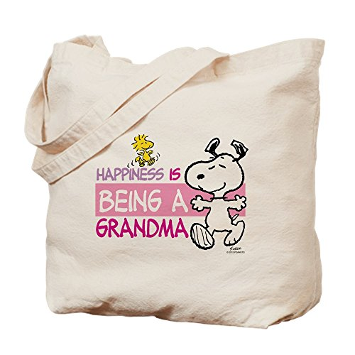 CafePress - Happiness Is Grandma - Natural Canvas Tote Bag, Cloth Shopping Bag