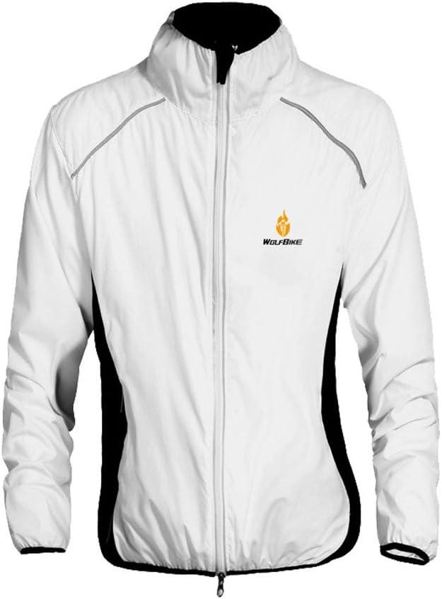 WOLFBIKE Ciclismo Equitación Jersey chaqueta transpirable ciclo ...