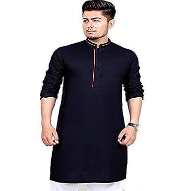 b8305c3011fe Men s Kurta Pyjama Set Indian Wedding Festive Party Ethnic Clothing Dress  S-5XL at Amazon Men s Clothing store
