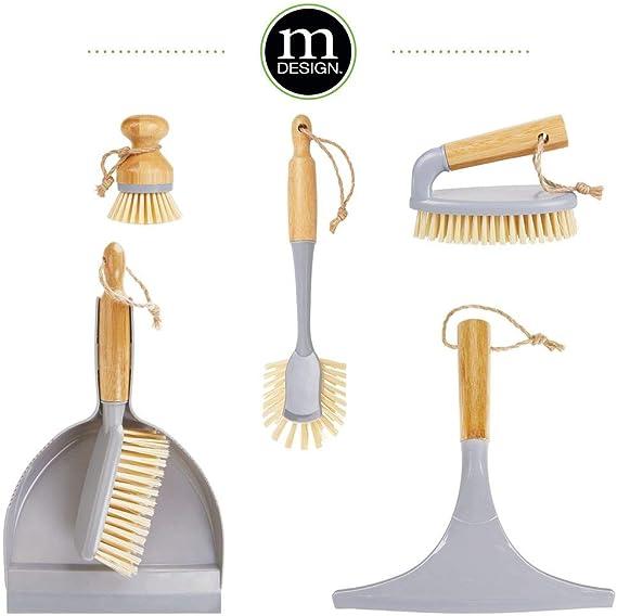 mDesign Juego de 2 limpiadores de cristales para baño – Práctico ...