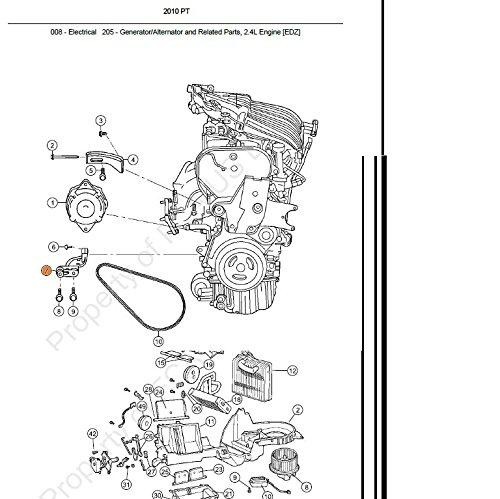 Genuine Chrysler 4668445AA Engine Alternator Bracket
