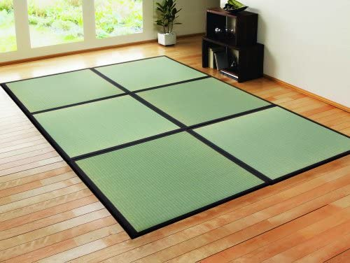 7.5 Piece Set Unit Mattress Made in Japan Black 17x34 inch TATAM Tatami Mat Japanese Traditional 1//4 Size